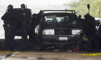 Three people are killed when a car hits nine people in a homeless camp in San Diego.