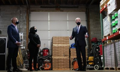 Biden promotes small business assistance in Pennsylvania.