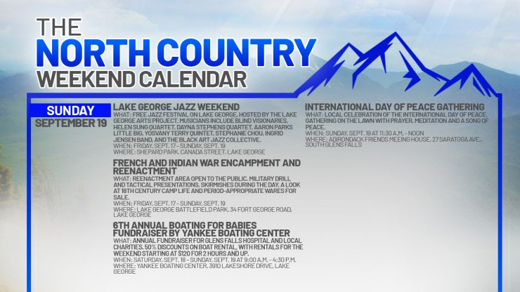 1631947719 880 North Country Weekend Calendar Smooth jazz and local history in