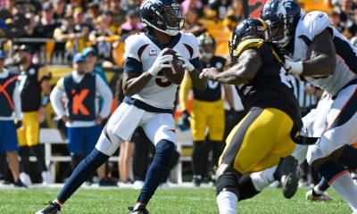WATCH: Broncos' Teddy Bridgewater connects with Courtland Sutton for a 39-yard TD against Steelers