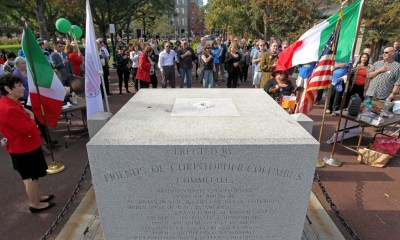 Christopher Columbus Park vandalized as Italian Americans call for return of statue