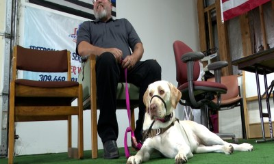 Central Illinois man credits service dog for saving his life during a health emergency
