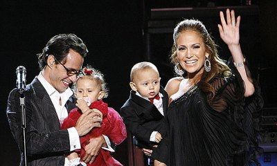 marc anthony and jennifer lopez with their twins
