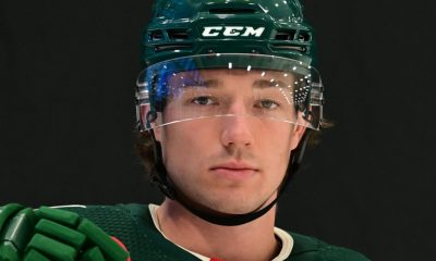 Wild winger Brandon Duhaime shines in NHL debut. Except for his rookie lap.