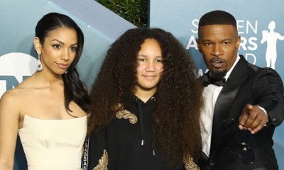 jamie foxx with daughters corinne and annalise