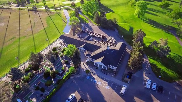 The clubhouse at Kennedy Golf Course