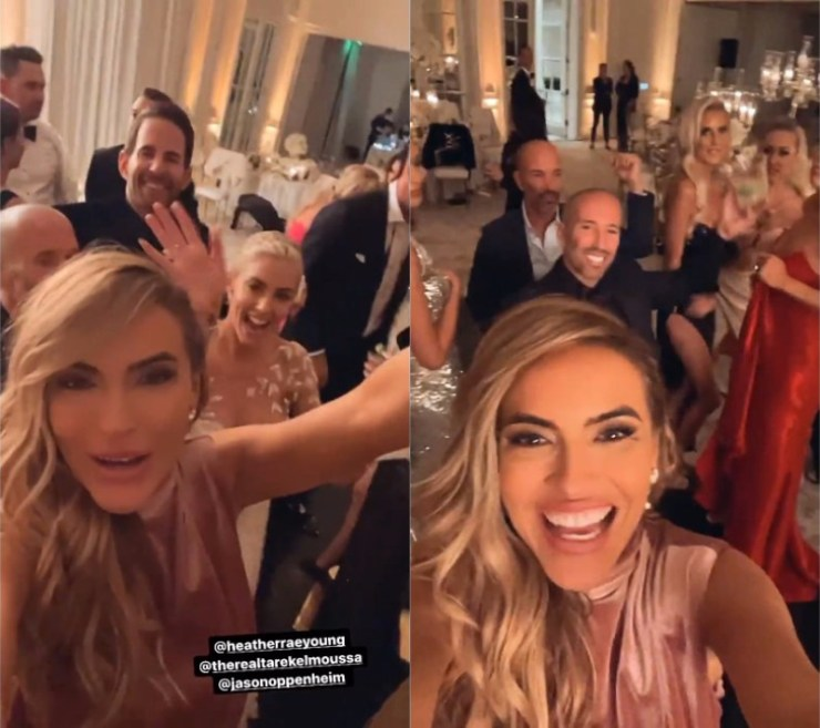 Selling Sunset Chrishell Stause Attends Tarek El Moussa and Heather Rae Young's Wedding