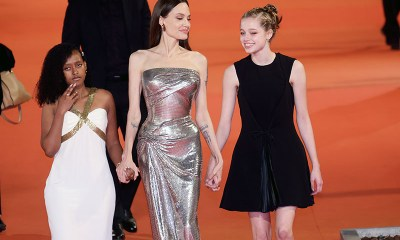 Angelina Jolie Dazzles On Red Carpet with Daughters Zahara and Shiloh
