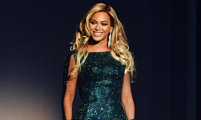 Beyoncé Stuns In Satin Green Dress With Plunging Black Top In Sexy New Photos