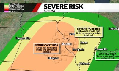 Unsettled weekend weather with severe storms possible Sunday
