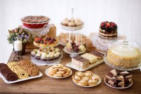 Recipes for various dessert