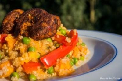 Zoete Quinoa met Falafel - Buzz in the Kitchen