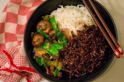 Koreaanse gehaktbowl recept | Buzz in the Kitchen