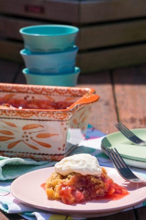 Rabarber Aardbeien Crumble | Buzz in the Kitchen dessert recept