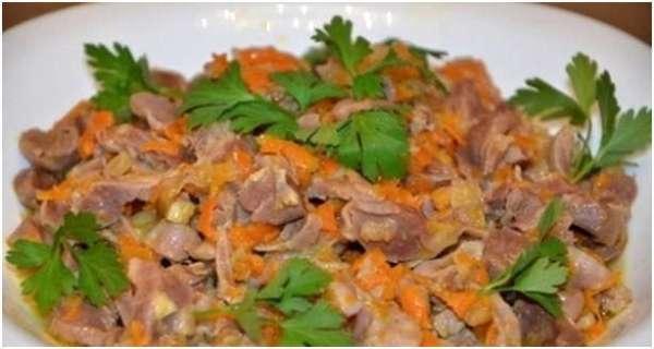 Куриные желудки в мультиварке Редмонд: рецепт с фото пошагово