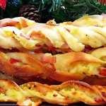 Хрупкави гризини с картофи и шунка