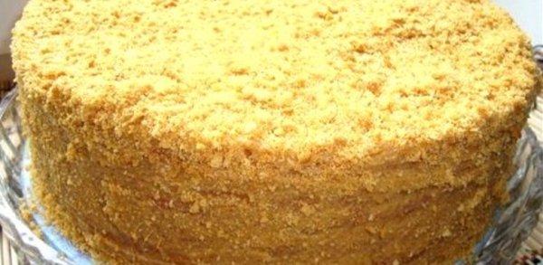 Рецепт торта «Медовик» со сметанным кремом и коньяком ...