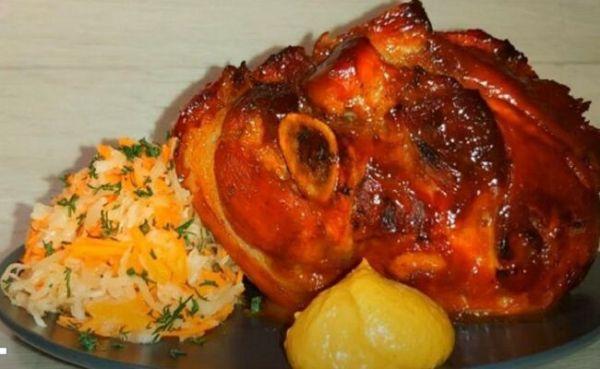 Рулька свиная запеченная в духовке   пошаговый рецепт с фото