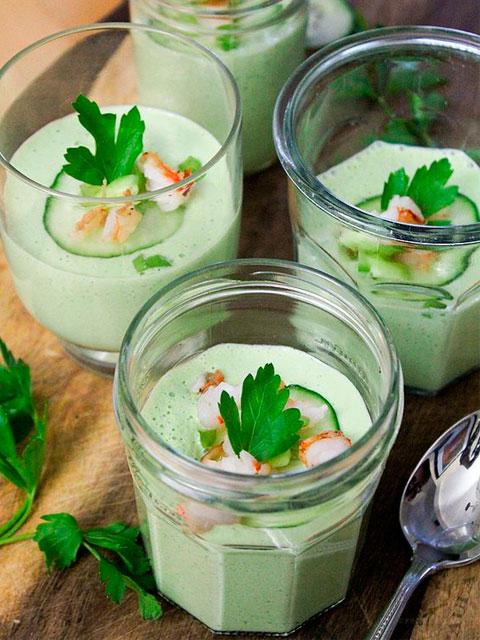 Огуречный суп с мятой