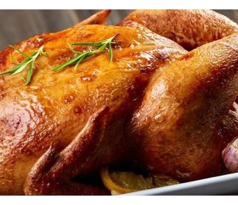 Цыплята фаршированные, жаренные на вертеле