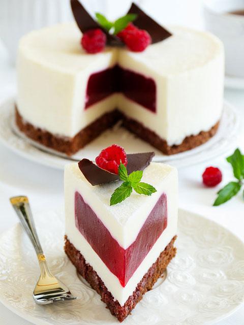 """Сливочный торт-суфле """"Малиновый бриз"""""""