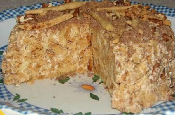 Торт без выпечки печенье 05 кг творог какао молоко
