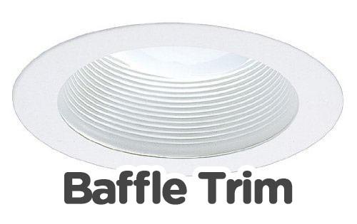 baffle trims recessed lights