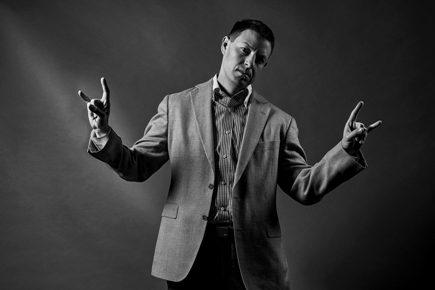 Jonathan Slain with Rock Fingers