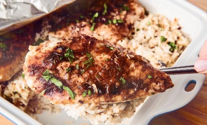 pollo al horno con arroz