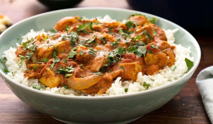 receta de pollo hindú