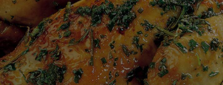 Pollo relleno con nueces.