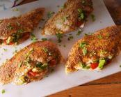 Pollo relleno de guacamole