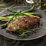 pollo con costra de pistacho