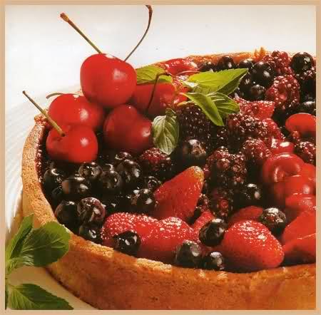 tarta de frutas de estación