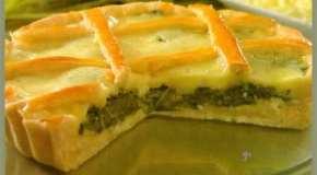 Tarta de espinaca y queso fresco