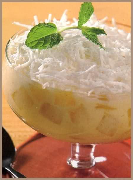 copa de ananá y coco