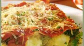Lasaña de zucchini, brócoli y coliflor