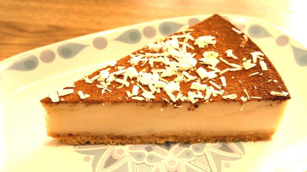 Tarta de horchata y chocolate blanco