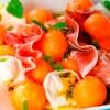 Ensalada de melón y jamón ingles