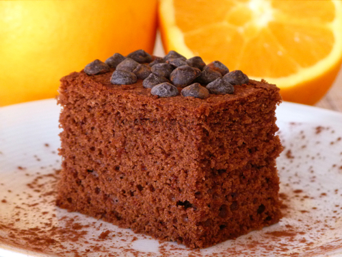 torta de chocolate y naranja