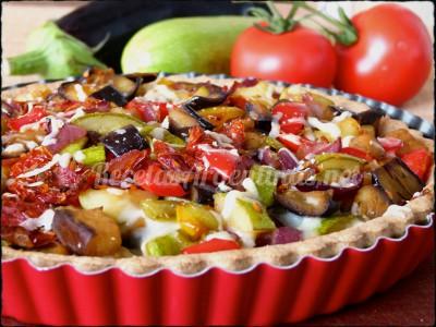 tarta integral de verduras