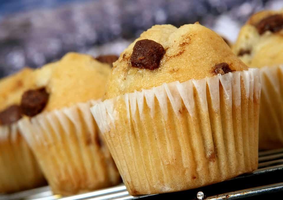 Muffins de maní y Chocolate