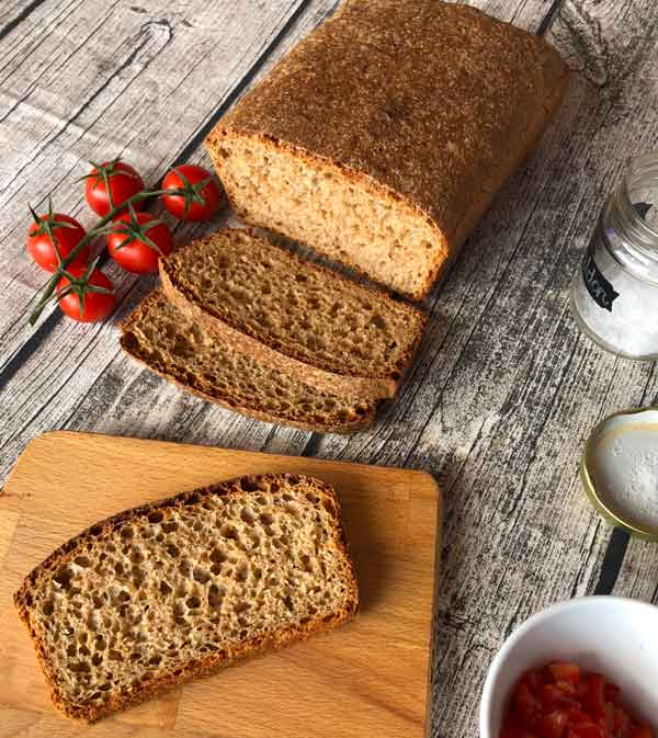 Pan casero con harina integral de Espelta