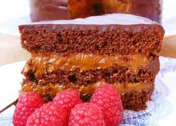 Torta de Chocolate y naranja rellena de Dulce de Leche y Mascarpone
