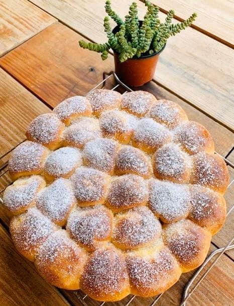 Mini Pancitos rellenos de crema pastelera