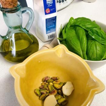 Pesto de Albahaca y Pistachos