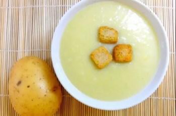 crema de puerro y patatas - Puré vegetariano de patata y puerro