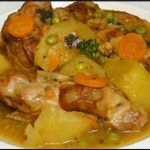 Carne guisada en olla rápida con patatas