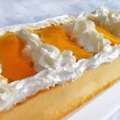 corona de queso y melocotón - Postre fácil de queso philadelphia y melocotón