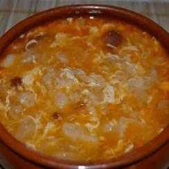 sopa de ajo castellana - Sopa de ajo o castellana tradicional